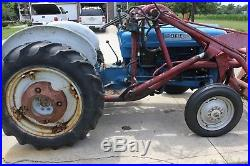 1963 Ford 2000 Tractor with Loader 6 Foot Grader Blade 6 Foot Finish Mower Runs