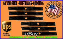 2 SETS 6 BLADES Land Pride 60 Cut Finish Mower 890-172C ESTATE MOWER HI LIFT