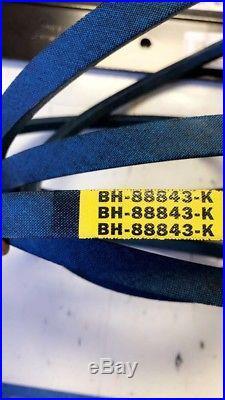 3 Bush hog 82325 Blades 88843 Kevlar belt for 6 foot Finishing Mowers rebuild