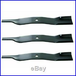 (3) Finishing Mower Blades fits Kubota BX-RCK54P, GR2100/2110, H30T, ZG23, ZG235