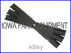 3 HARD SURFACED REPLACEMENT BLADES for Y750R, 7' Farm King Finish Mowers