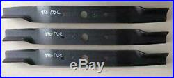 3 PACK Blades for Land Pride 72 Cut Finish Mowers, 890-172C