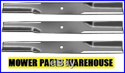 (3) Set Of 72 Finishing Mower Blades For Woods Rm372 Rm660 Part# 15127kt 15127