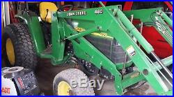 4710 John Deere utility tractor Green with 6' back blade, 6' finish mower 2004