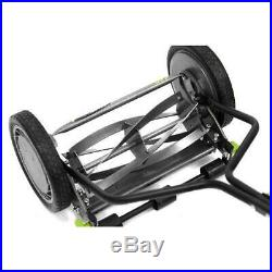 5-Blade Black Finish Push Reel Lawn Mower 14-in. Durable Outdoor Gardening Tool