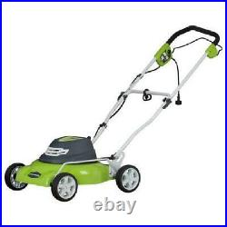 7- Position Green Finish Corded Lawn Mower 18-Inch 12 Amp With Adjustable Height