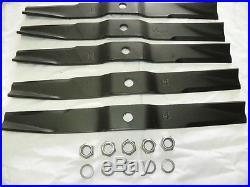 Caroni Mower Blade Kit fits TC910 7'7 Finish Mower Blades, Nuts and Washers