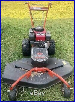 DR All Terrain Mower With Finish Mower Attachment. 3 Blade Mower