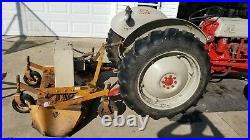 Ford 8n Tractor with Woods finish mower and grader blade