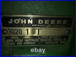 John Deere 3020 Diesel 1964, Loader, Air Cab, Finish Mower, Blade, Hay Spike, Restore