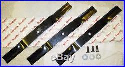 King Kutter 4' Finish Mower Blade Set 3 Blades OEM 502316