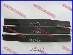 King Kutter 60 Finish Mower Blades Set of 3, Code 502320