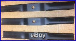 New, Genuine Woods 53555KT 72 grooming finish mower blades set of 3