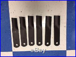Rm90/rm990 Set Of 6 90 Woods Finish Mower Blades Replace Part# 24590kt / 24590