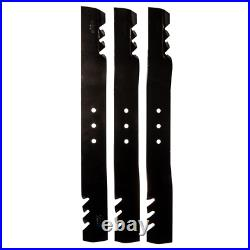 Replacement 22.5 Inch Blade Set For 66 Inch Lawn Mowers Finish Cut Swisher