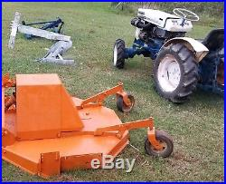 Satoh Beaver 370D 4WD Compact Tractor, Finish Mower, Scrape