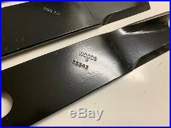 Set/3 Genuine Woods 55343KT 60 Hi Lift grooming finish mower blades RD6000