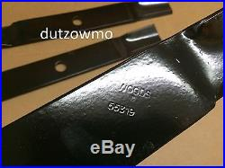 Set 3 blades Woods RD6000 60 finishing grooming mowers s/n 7939324 55319KT