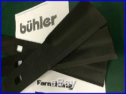 Set/3 replacement blades Buhler/Farm King 60 finishing grooming mowers FK966719