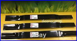 Set/3 replacement blades for County Line 72 finishing grooming mowers 502324
