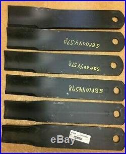 Set/6 OEM blades Frontier GM2109 108 grooming finish mower. 5BP0044598