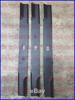 Set of 3 Blades for Buhler farm King K-72 6' Cut Finish Mower Code 966738