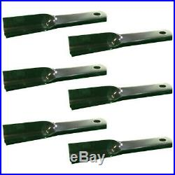 Set of 6 Blades for Woods RM90 RM990 P990 90 Grooming Finish Mower # 24590KT