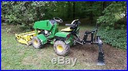 Steiner 430 Max tractor with Snow blower, Dozer blade, Finish mower, Box blade