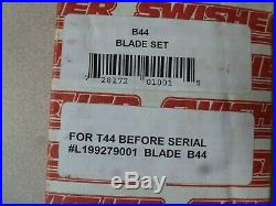 Swisher 44 inch T44 Finish Cut Mower D-Style Replacement Blade Set B44 OEM New