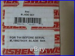 Swisher T44 44 Finish Cut Mower D-Style Replacement Blade Set B44 2 OEM New