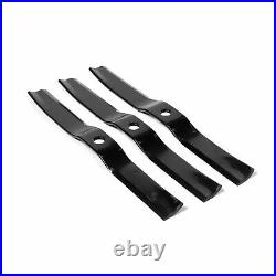 Titan Attachments 3 Pack 60 Finish Mower Replacement Blades, Lawn Care