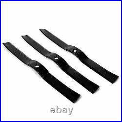 Titan Attachments 3 Pack 72 Finish Mower Replacement Blades, Lawn Care