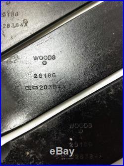 WOODS RD990 FINISH MOWER BLADE KIT SET OEM 29186KT Clockwise Rotation