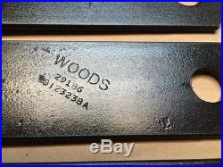 WOODS RD990 FINISH MOWER BLADE KIT SET OEM 29186KT Clockwise Rotation