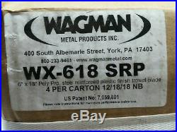 Wagman WX-618SRP. 6''x18 Poly Pro Steel Reinforced plastic Finish Trowel 4PACK