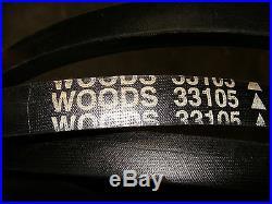 Woods Finish Cut Mower Deck Blade Drive Belt Part # 33105 or 28167