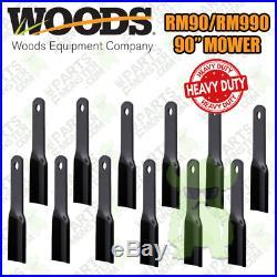 Woods RM90/RM990 Grooming Finish Mower Blade Set (12) / 24590, 24590KT, 91-767