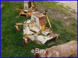 Woods finish mower 48 inch 2 machines to make 1 good all blades turn free